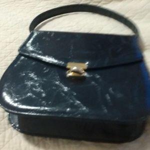 Navy risque handbag